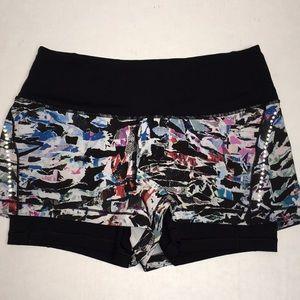 Lululemon Activewear Mosaic Running Shorts